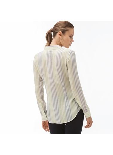 Lacoste Kadın Çizgili Gömlek CF1904.04A Sarı